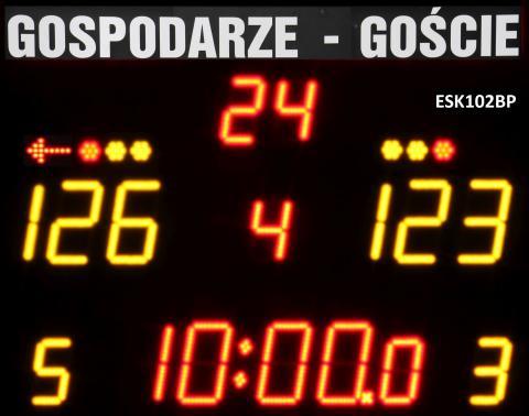 ESK102BP Bezprzewodowa tablica wyników sportowych ze stałym napisem GOSPODARZE-GOŚCIE