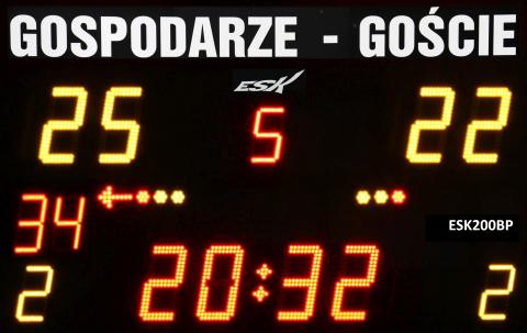 ESK200BP wiresless scoreboard with permanent team name labels