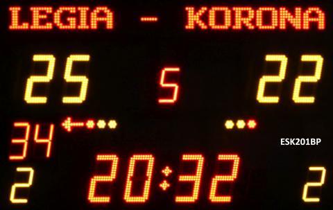 ESK201BP Bezprzewodowa tablica wyników sportowych z grafiką do wyświetlania nazw zespołów