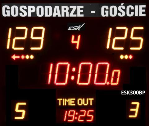 ESK300BP wiresless scoreboard with glued team name labels GOSPODARZE-GOŚCIE