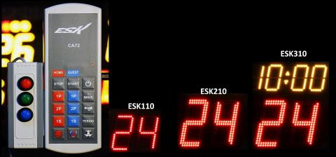 CA72 Bezprzewodowy sterownik tablicy wyników, pomiar 24 sek do koszykówki