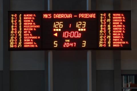 ESK24030N Tablica wyników sportowych z nazwiskami zawodników